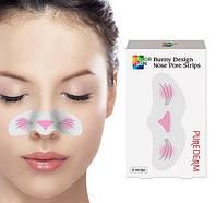 Полоски от черных точек Purederm Colorskin Design Nose Pore Strip Bunny