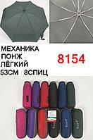 Женские маленькие механические зонты в чехлах на 8 спиц