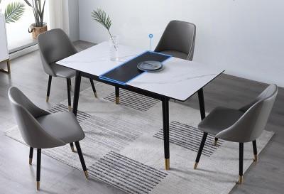 Мраморный стол прямоугольный раскладной. Модель 2-419