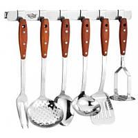 Набір кухонного приладдя 6пр з металевою планкою з гачками Krauff 29-44-266