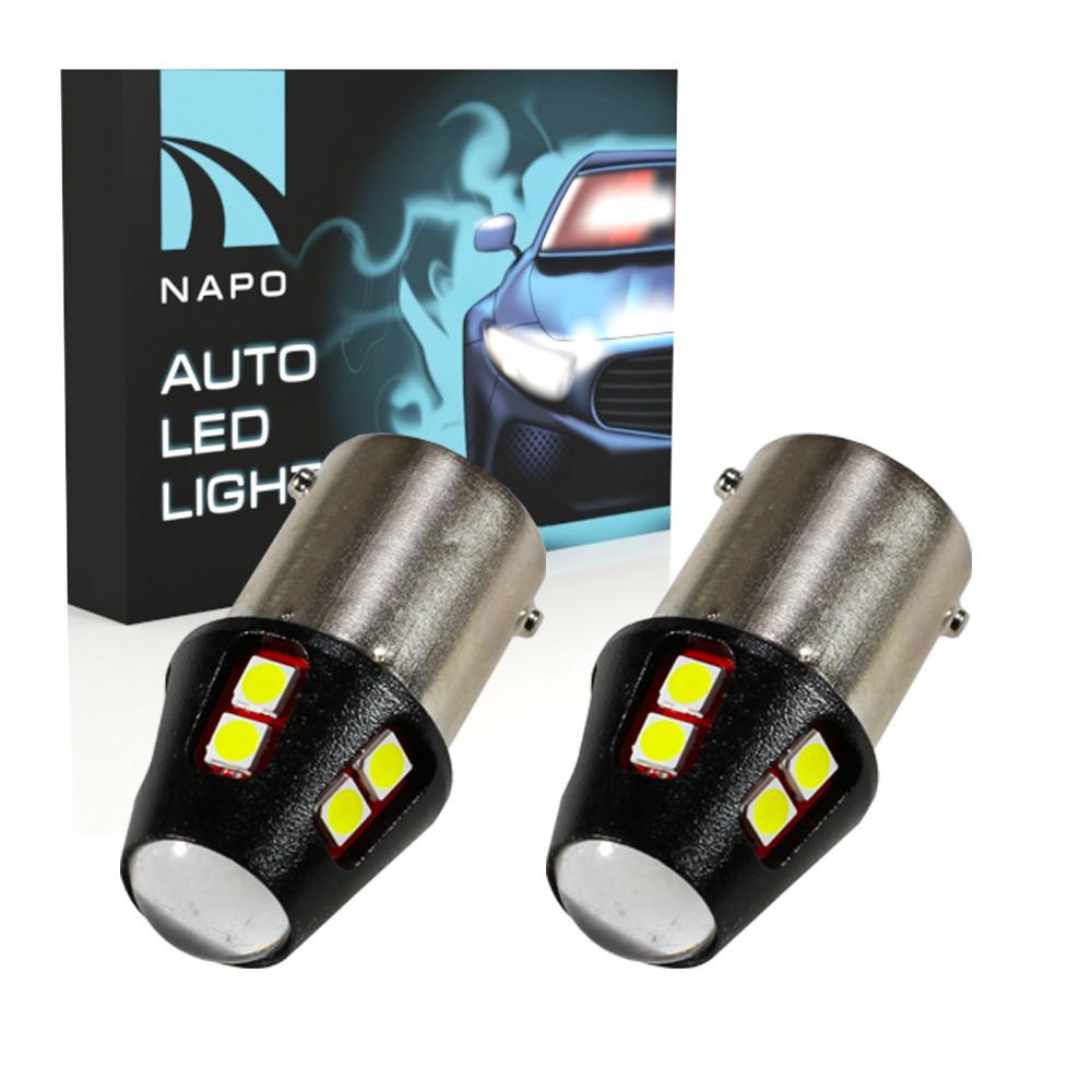 Лампа светодиодная NAPO LED S25-1156-3030-12SMD P21W BA15S цвет свечения белый 2 шт