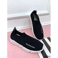 Стильные кроссовки носки  женские текстильные черные