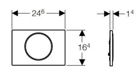 115.758.KN.5 Sigma10 Клавіша змиву змив/стоп, колір хром мат/хром глянець, фото 2