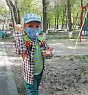 Защитная маска Детская для лица многоразовая с клапаном и фильтром+4 фильтра в подарок, фото 4