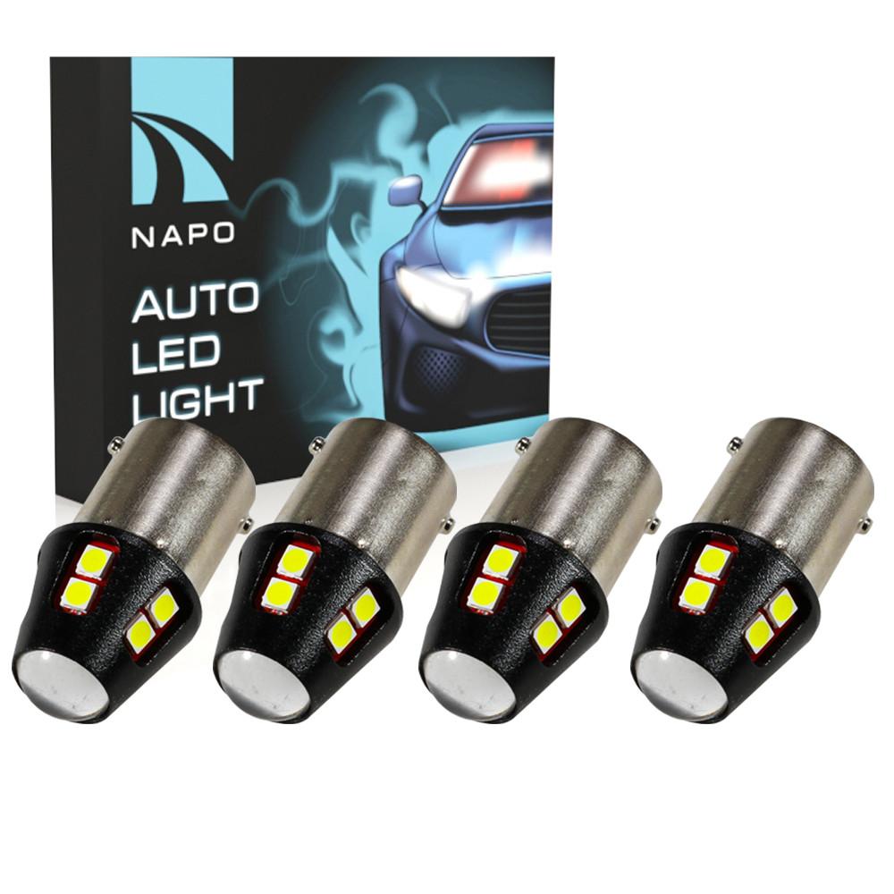 Лампа светодиодная NAPO LED S25-1156-3030-12SMD P21W BA15S цвет свечения белый 4 шт
