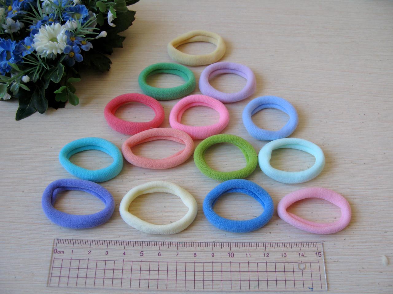 Резиночка цветная (пастельные тона) 3.6 см микрофибра 9 грн - 10 шт.