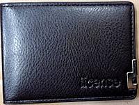 Мужской черный зажим из искусственной кожи с отделениями для визиток