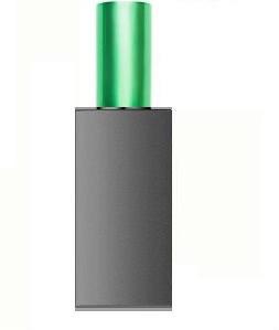 СЕРЕБРО МАТОВЫЙ Флакон для парфюмерии АРТ 60 мл. с металлическим спреем САЛАТОВЫЙ