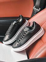 Кроссовки Кожаные Alexander McQueen Black
