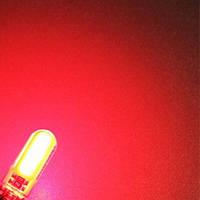 Лампы на габарит/подсветка салона/номера диодные (Красный свет) Цоколь T10 (W5W) - 2шт, фото 1