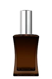 КОРИЧНЕВЫЙ Флакон для парфюмерии ИМИДЖ 50 мл. с металлическим спреем СЕРЕБРО