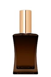 КОРИЧНЕВЫЙ Флакон для парфюмерии ИМИДЖ 50 мл. с металлическим спреем ЗОЛОТО