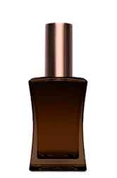 КОРИЧНЕВЫЙ Флакон для парфюмерии ИМИДЖ 50 мл. с металлическим спреем КОРИЧНЕВЫЙ