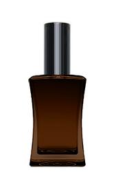 КОРИЧНЕВЫЙ Флакон для парфюмерии ИМИДЖ 50 мл. с металлическим спреем ЧЕРНЫЙ