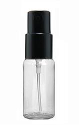 ПРОЗРАЧНЫЙ Флакон для парфюмерии ПОЛИМЕРНЫЙ 30 мл. с пластиковым спреем ЧЕРНЫЙ