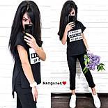 Повседневный костюм: футболка и штаны с карманами красный, серый, черный, марсала, персик, графит, пудра, хаки, фото 2