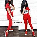 Повседневный костюм: футболка и штаны с карманами красный, серый, черный, марсала, персик, графит, пудра, хаки, фото 4