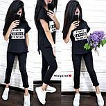 Повседневный костюм: футболка и штаны с карманами красный, серый, черный, марсала, персик, графит, пудра, хаки, фото 5