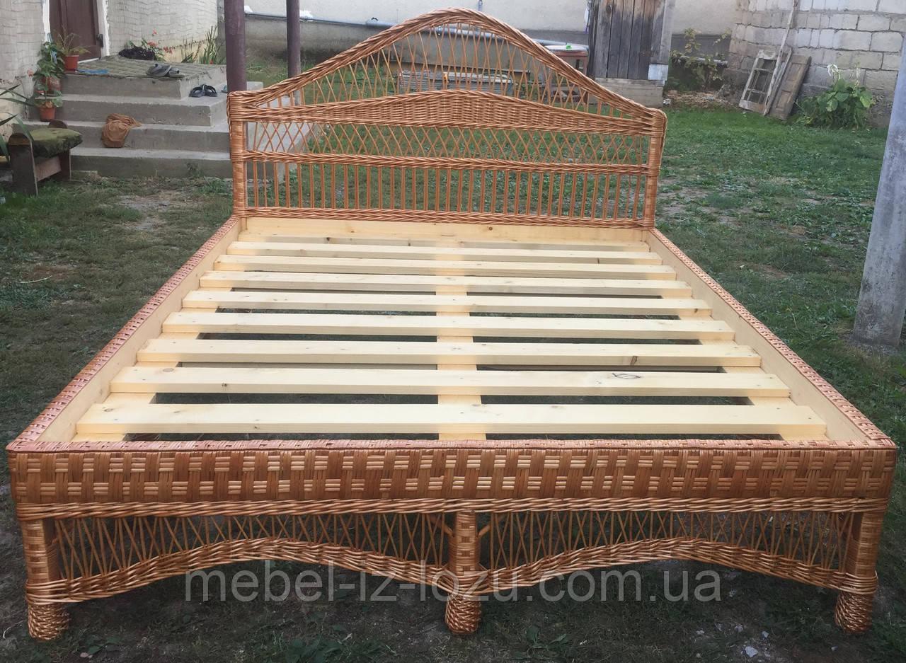 Кровать из лозы №1 (2х1,6 м.)