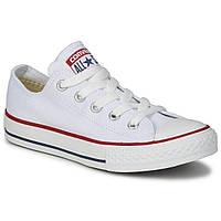 Кеды Белые Converse All Star Низкие (размеры 35-46) мужские и женские с белой подошвой, Текстиль