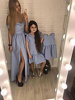Набор платьев family look для мамы и дочки