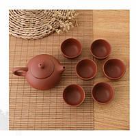 Китайский чайный набор. Чайник и 6 чашек.