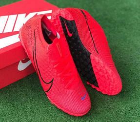 Сороконожки футбольные Nike Mercurial Vapor XIII Academy TF красные