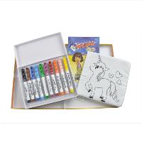 Фломастери, фарби та олівці
