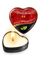 Масажна свічка сердечко Plaisirs Secrets Natural (35 мл)