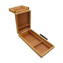 Пенал-етюдник акварельний дерев'яний 33х16,5х5 см D.K.Art&Craft, 94161966