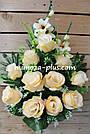 Искусственные цветы - Роза с гладиолусом композиция, фото 4