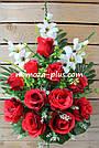 Искусственные цветы - Роза с гладиолусом композиция, фото 2