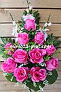 Искусственные цветы - Роза с гладиолусом композиция, фото 6