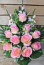 Искусственные цветы - Роза с гладиолусом композиция, фото 10