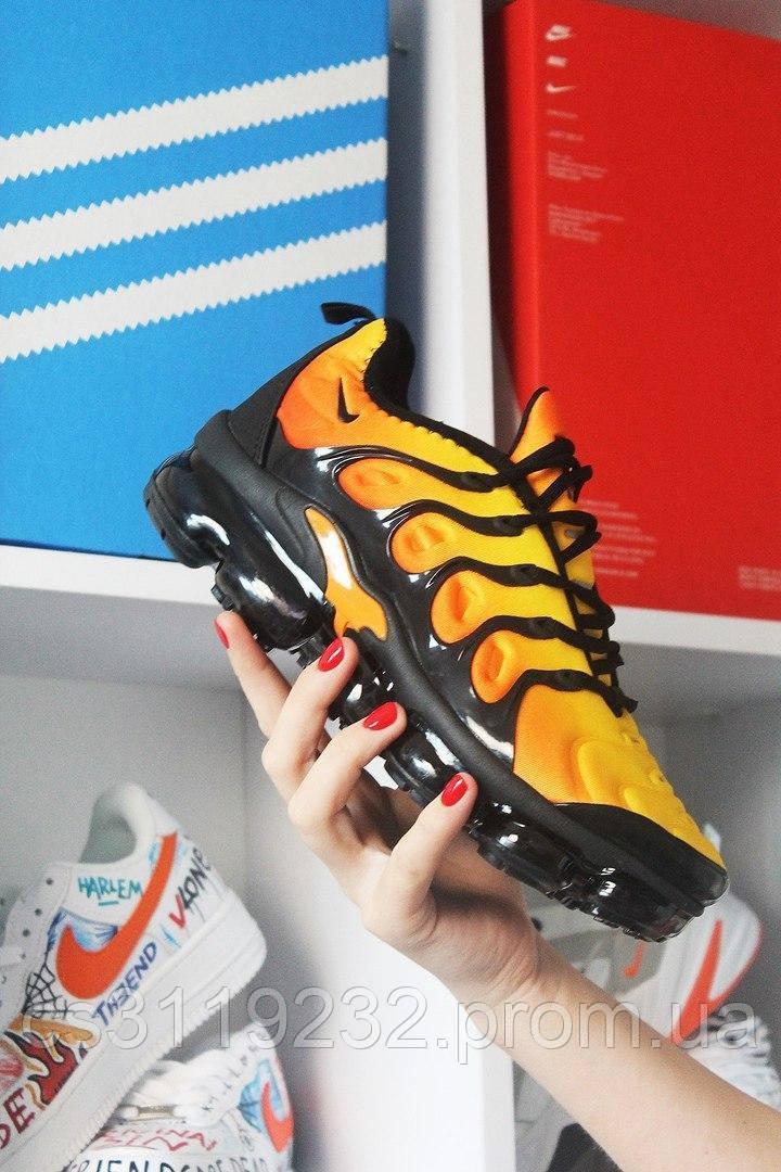Мужские кроссовки Nike Vapormax TN Yellow Orange (оранжевые)