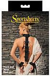 Ошейник с наручниками Sportsheets Neck & Wrist Restraint с лентой для фиксации рук, фото 2