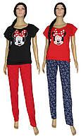 Пижама женская 19025 Minnie Red коттон, футболка и брюки