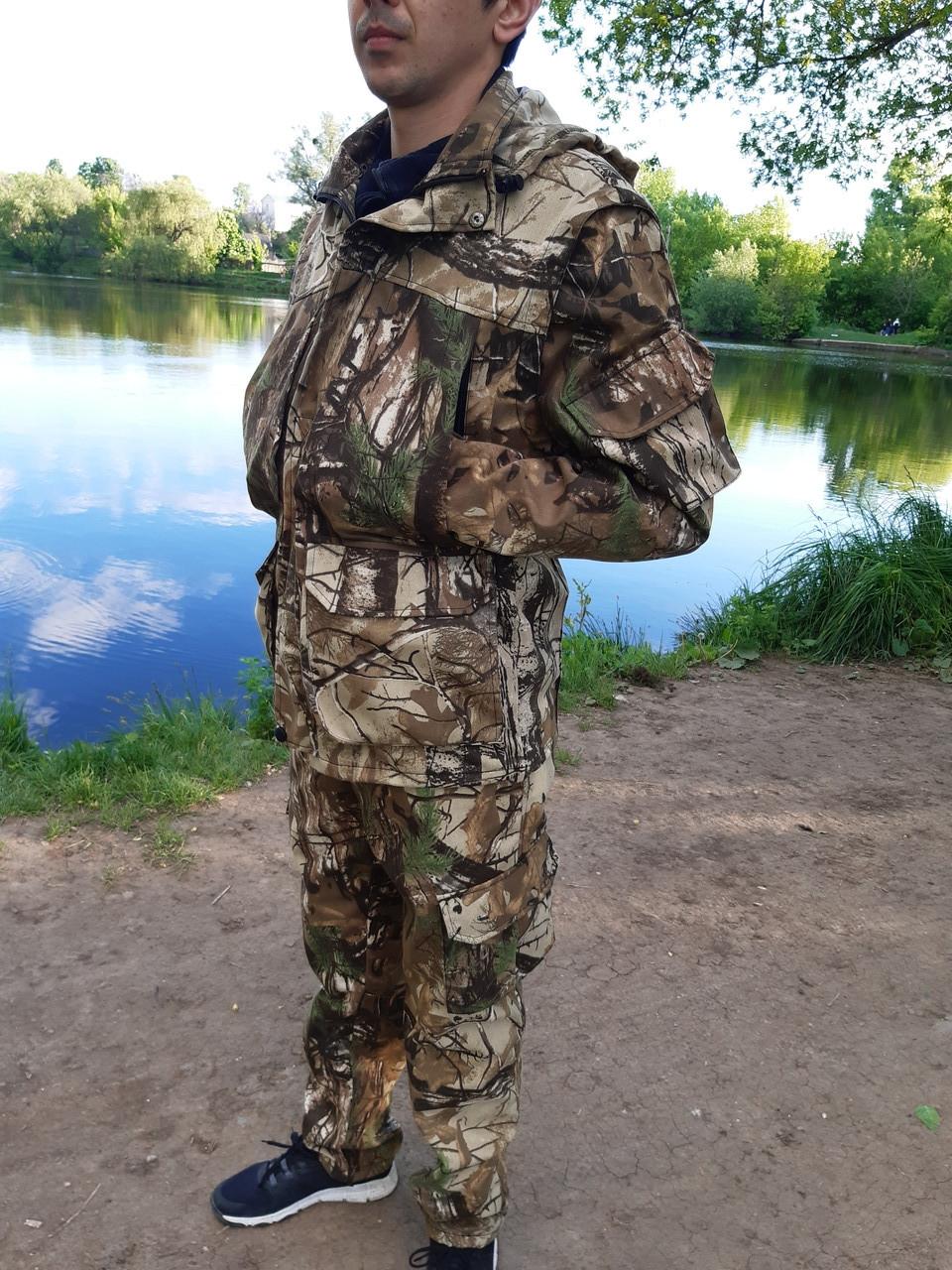 Летний камуфляжный костюм для охоты и рыбалки Лес skadi
