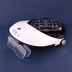 Многофункциональная  наголовная  бинокулярная лупа (бинокулярные очки) ,4 линзы L-15     C