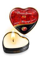 Масажна свічка сердечко Plaisirs Secrets Peach (35 мл)