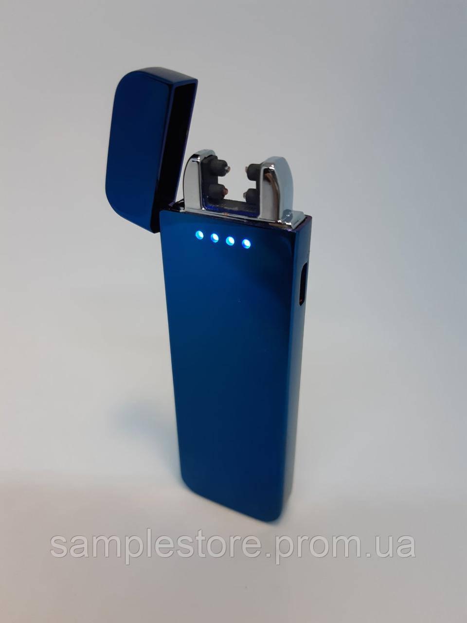 Электроимпульсная Usb зажигалка две дуги Cariage Blue