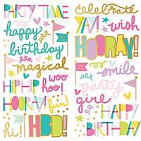 Наклейки фомові - Magical Birthday- Simple Stories - 30х30