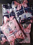 Піжама Трикотажна Футболка і шорти Кішечка з бантом Синього кольору, фото 4