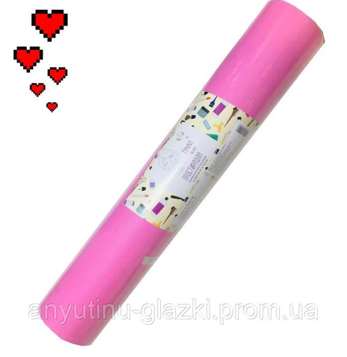 Простынь спанбонд 0,8х100 м, Панни Млада (пл.20), розовая