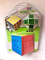 Кубик- логика + маленький кубик + змейка 3 В 1