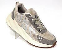 Кроссовки для женщин серого цвета на толстой подошве