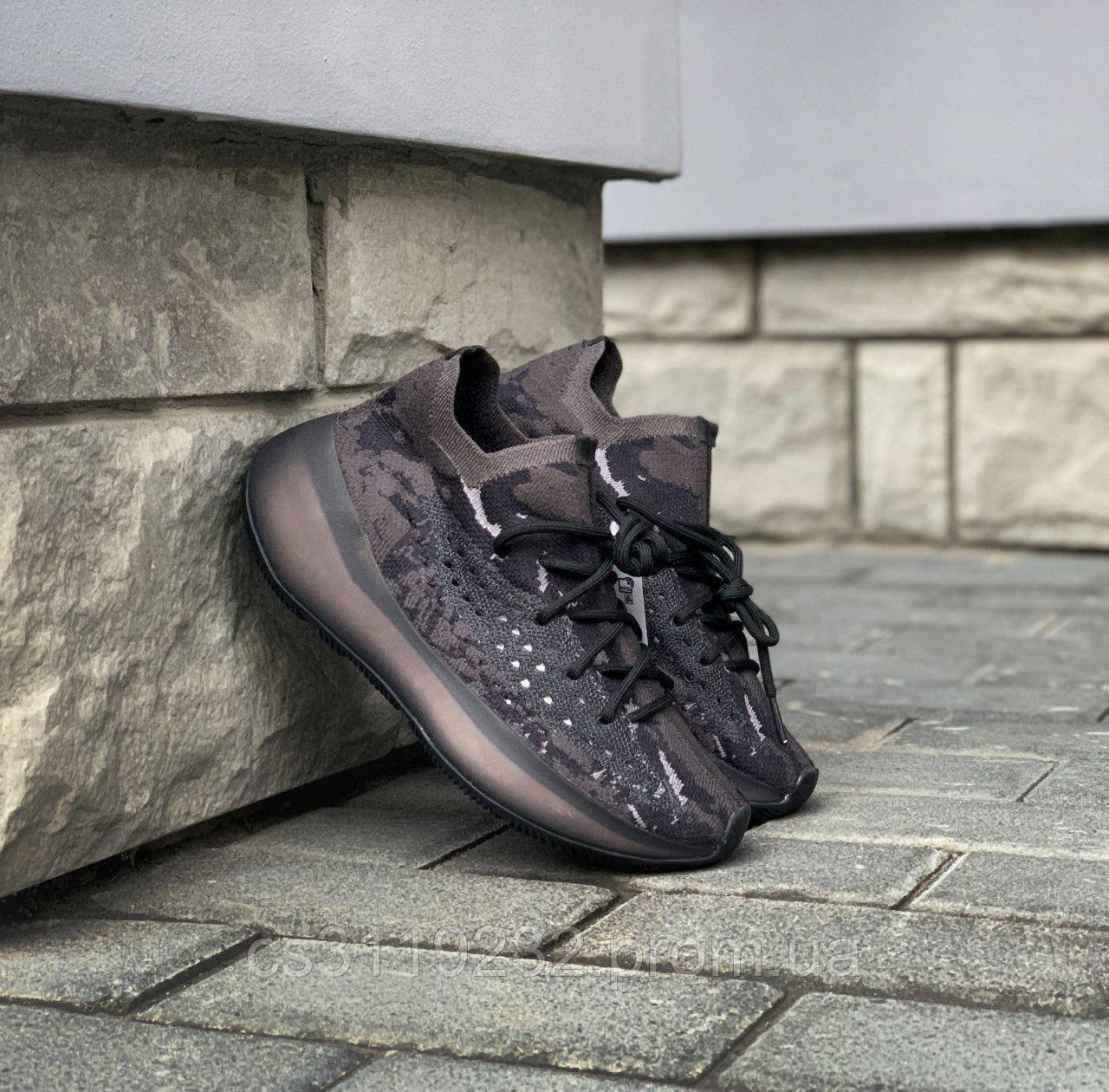 Женские кроссовки Adidas Yeezy 380 Black Alien (черные)