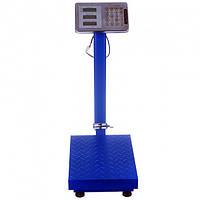 Весы товарные электронные Domotec до 150 кг. с большой платформой 40*50 см,торговые со стойкой