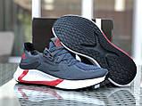 Мужские летние кроссовки Adidas,серые,сетка, фото 3
