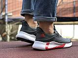 Мужские летние кроссовки Adidas,серые,сетка, фото 5